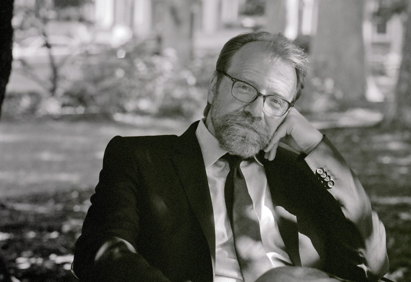 Author George Saunders photographed in North Carolina. (Courtesy of David Crosby)