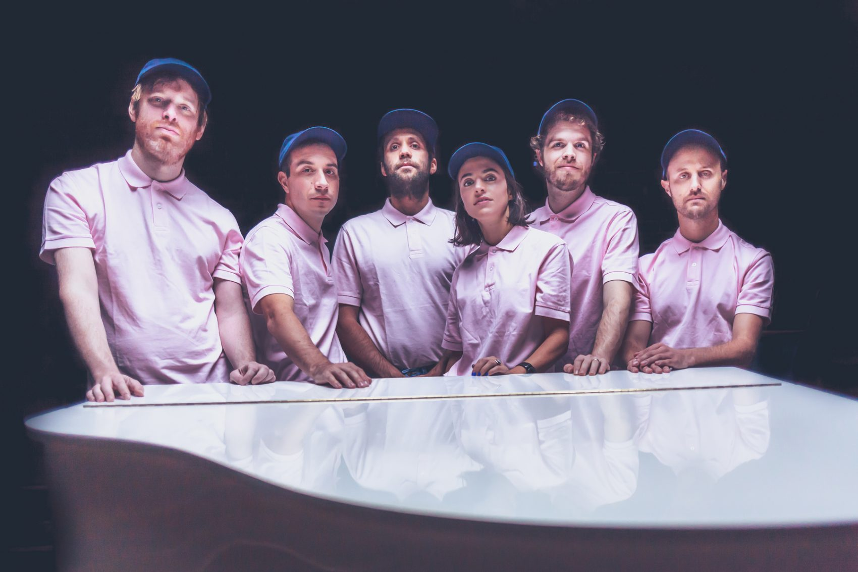 The seven members of avant-pop group Cuddle Magic. (Courtesy Chris Weiss)