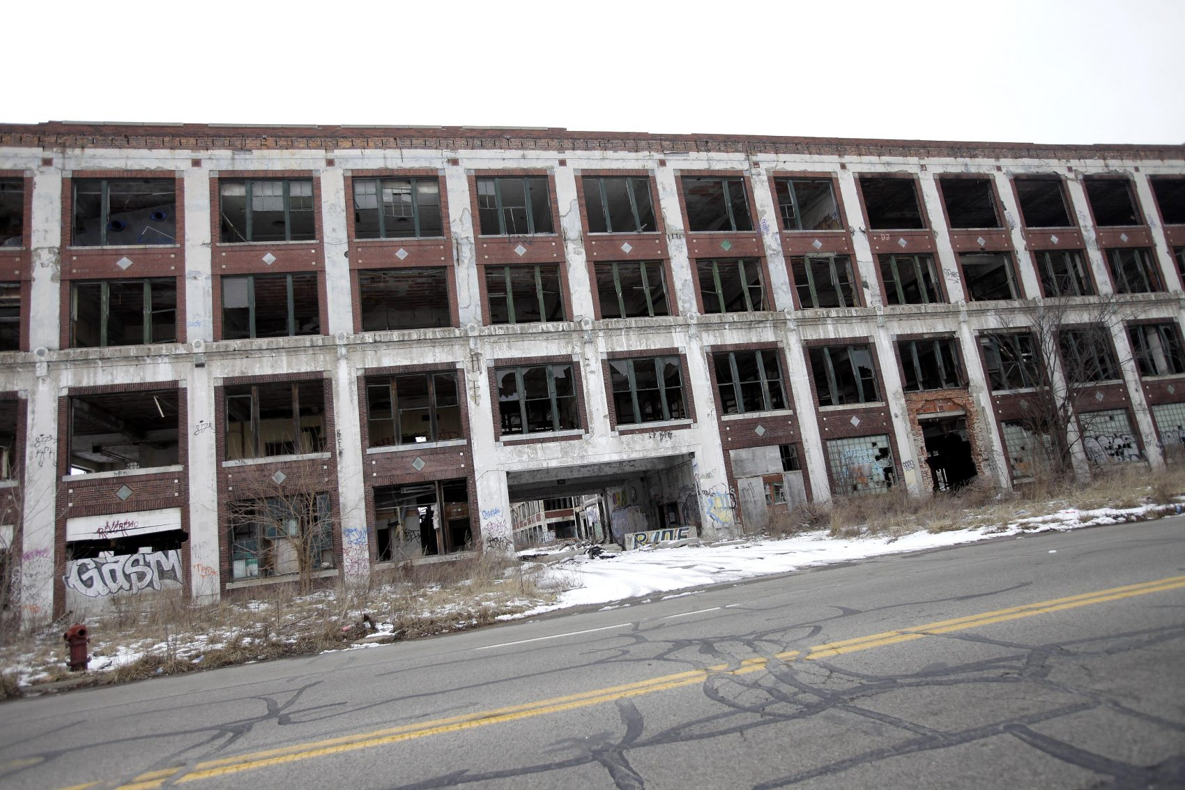 The former Packard Plant in Detroit in February 2013. (J.D. Pooley/Getty Images)