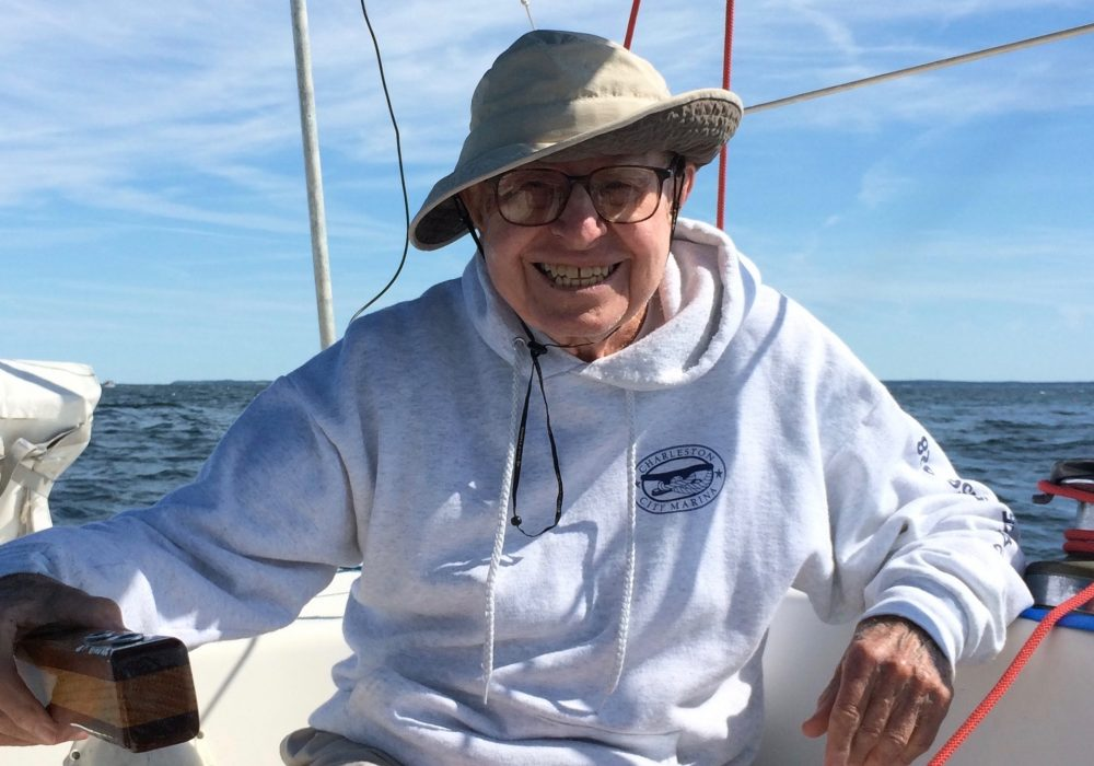 Archie Kenyon started sailing when he was 76 years old. (Courtesy Mike Kenyon)