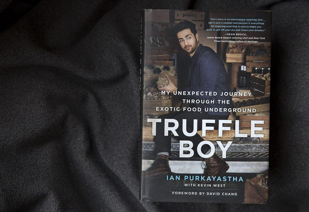 "The cover of ""Truffle Boy,"" by Ian Purkayastha. (Robin Lubbock/WBUR)"