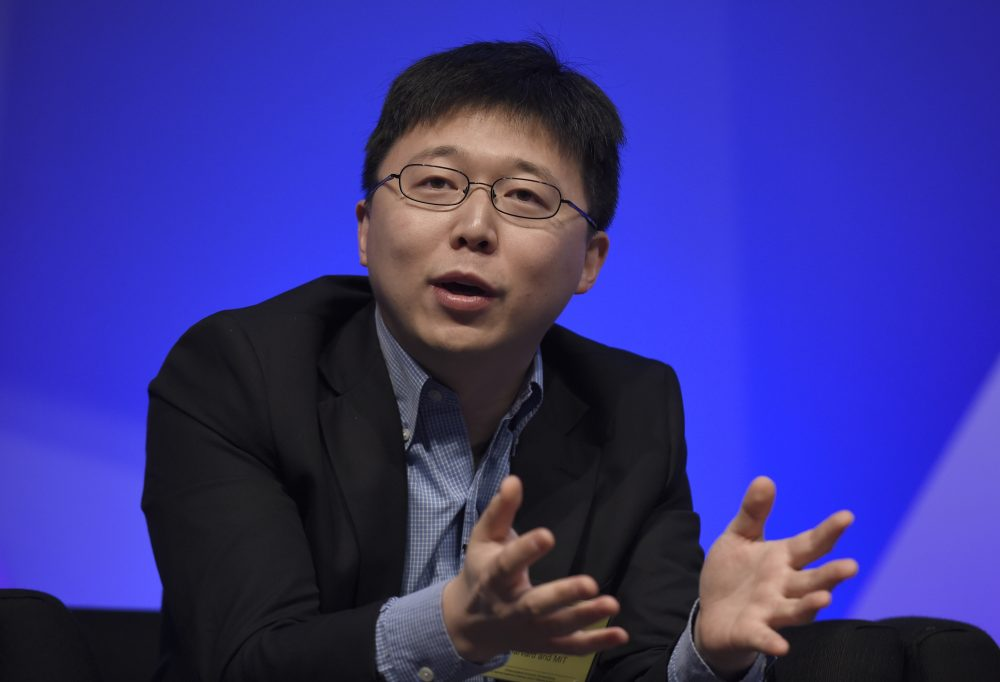 Feng Zhang of the Broad Institute of MIT participates in a panel discussion at the National Academy of Sciences international summit on the safety and ethics of human gene editing in 2015 in Washington. (Susan Walsh/AP)