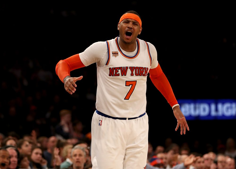The New York Knicks were recently named the NBA's most valuable team, despite a tough start to the 2017-18 season. (Elsa/Getty Images)