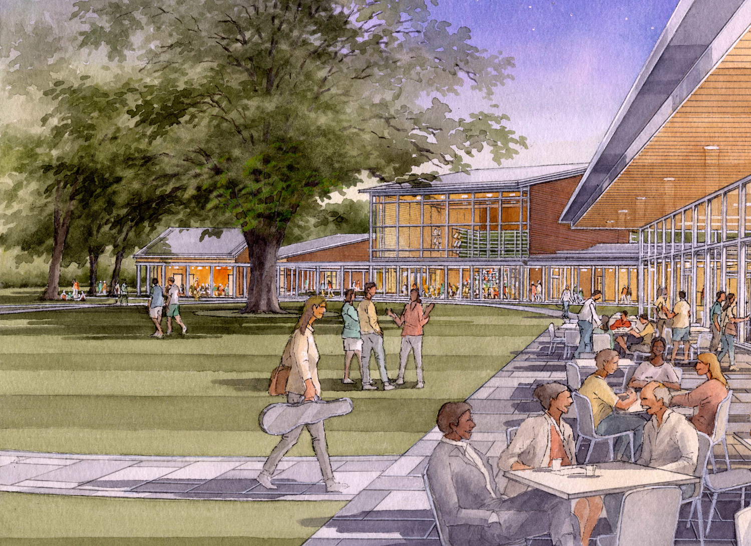 A rendering of what the new Tanglewood pavilions would look like. (Courtesy Boston Symphony Orchestra)