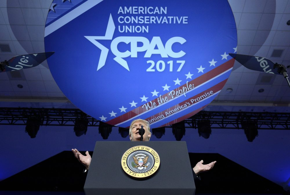 President Donald Trump delivers remarks to the Conservative Political Action Conference (CPAC) on February 24, 2017 (Olivier Douliery - Pool/Getty Images)