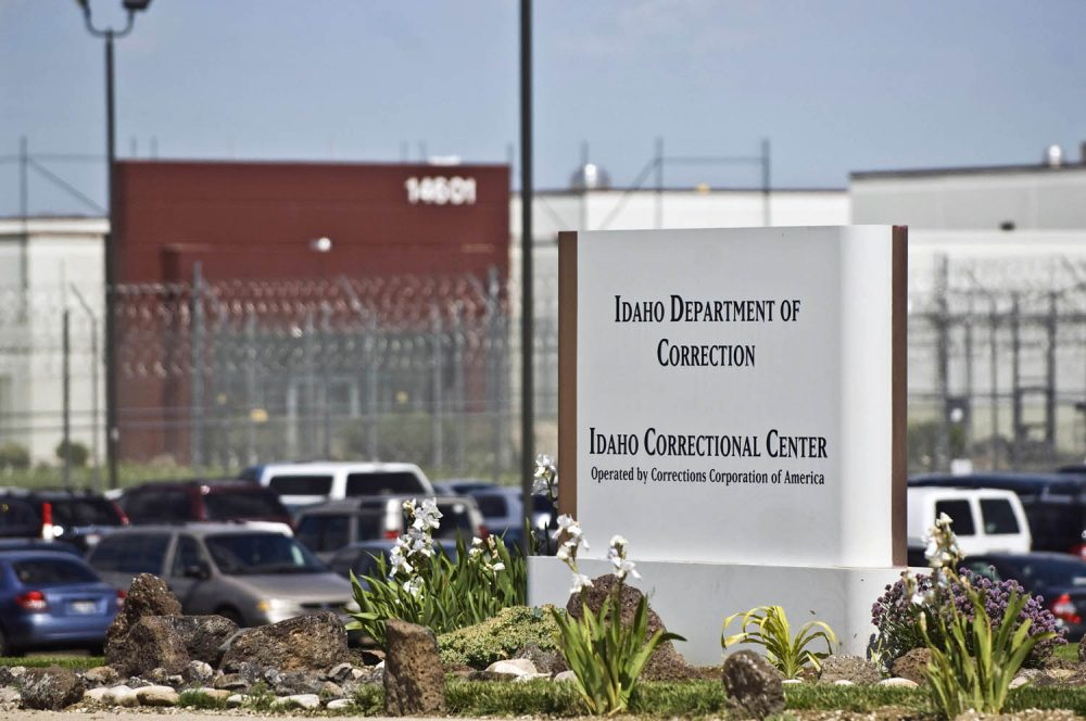 In this June 15, 2010 file photo, the Idaho Correctional Center is shown south of Boise, Idaho, operated by Corrections Corporation of America. (Charlie Litchfield, File/AP)