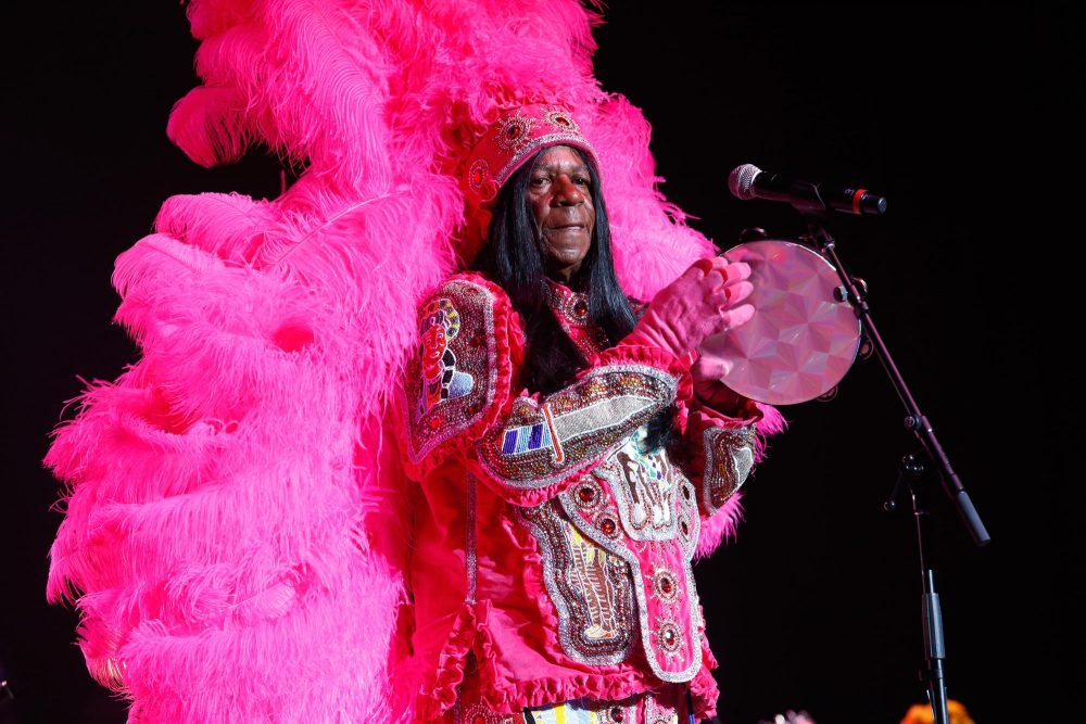 Big Chief Monk Boudreaux performs during The Musical Mojo of Dr. John: A Celebration of Mac & His Music at the Saenger Theatre on May 3, 2014 in New Orleans, La. (Skip Bolen/Getty Images for Blackbird Productions)