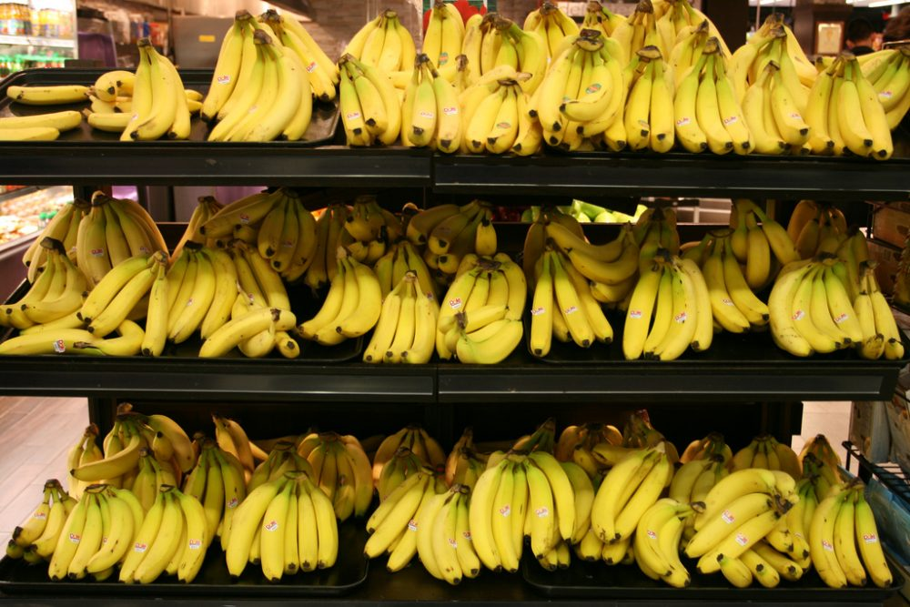 """When the high frequency music was playing, more people took bananas from the light-colored shelves as compared to the dark-colored shelves -- and vice versa,"" said BC professor Henrik Hagtvedt, of his experiment. (un_owen/Flickr)"