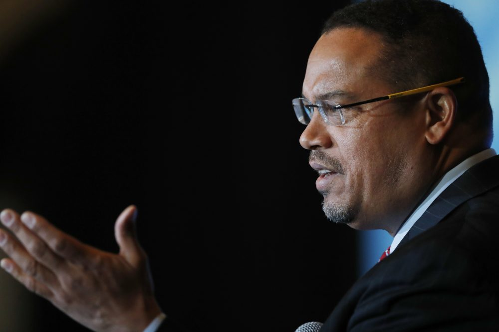 The Democratic National Committee, writes Miles Howard, should choose Representative Keith Ellison of Minnesota as its new chair this week. Pictured: Ellison addresses a forum on the future of the Democratic Party, featuring candidates running to be the next chair of the DNC, on Friday, Dec. 2, 2016, in Denver. The candidates spoke during the Association of State Democratic Chairs session. (David Zalubowski/AP)