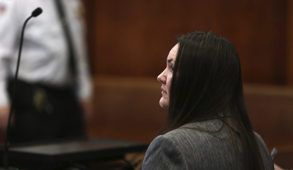 Rachelle Bond appears in a pretrial hearing on Jan. 17 in Boston. (Pat Greenhouse/The Boston Globe via AP, Pool)
