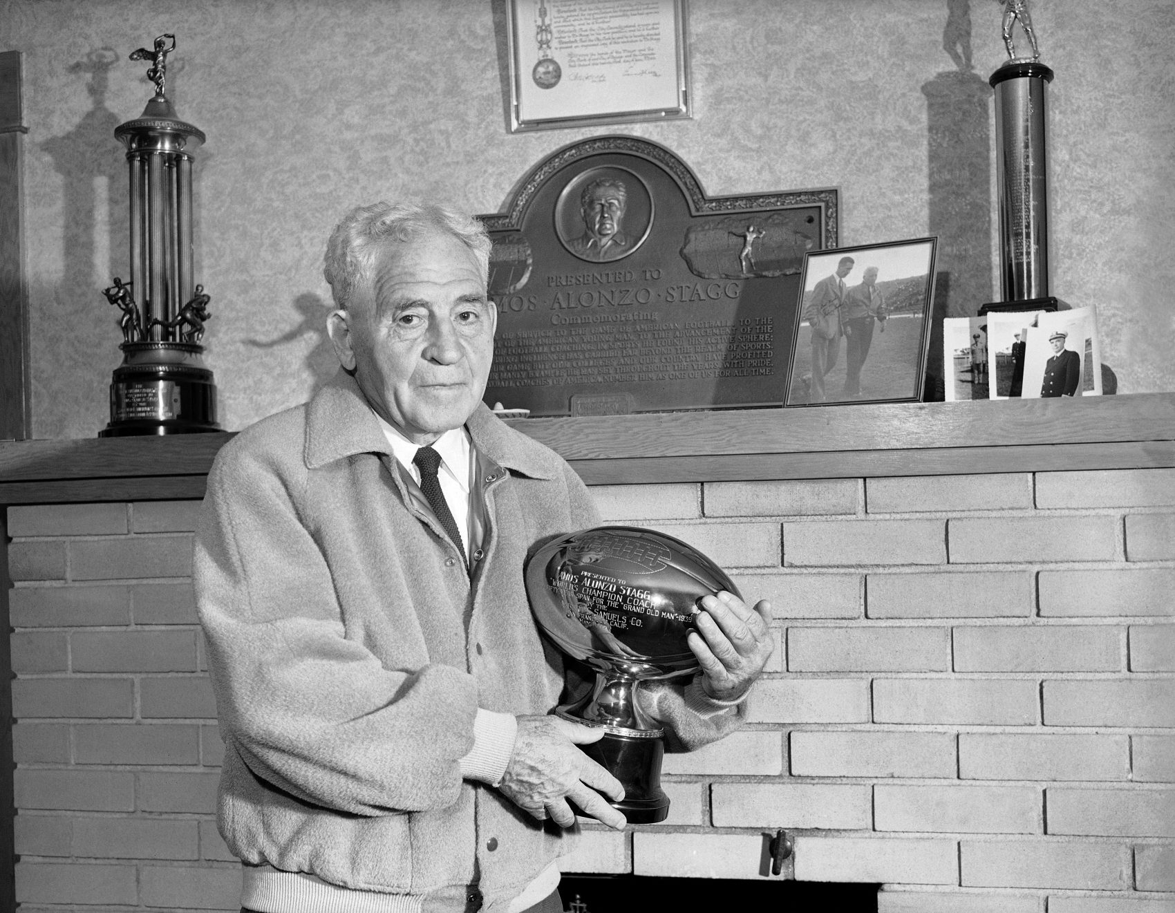 Amos Alonzo Stagg was a pioneering coach in football and baseball. In his later years, he used his platform to fight for an unexpected cause. (AP/Joe Rosenthal)