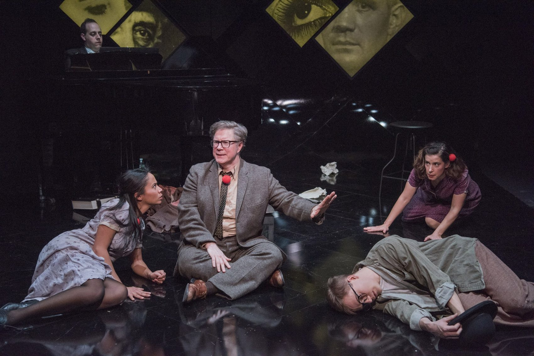 "Carla Martinez, Brad Daniel Peloquin, Jake Murphy and Christine Hamel in ""Brecht on Brecht."" (Courtesy Andrew Brilliant/New Repertory Theatre)"