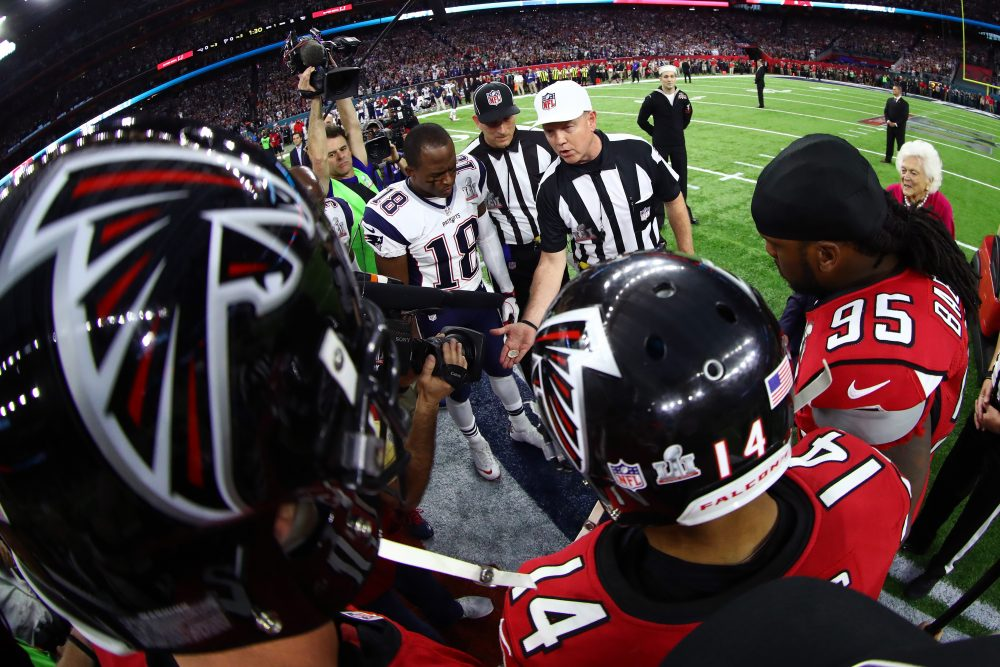 Patriots-Falcons was the first Super Bowl to go to overtime. (Al Bello/Getty Images)