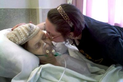 Joe Nazworthy and Natasha Ambrose during his dying moments (Courtesy of Natasha Ambrose)