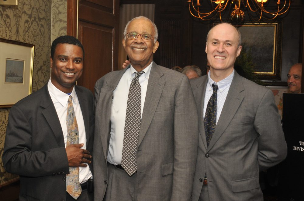 Dr. Chester Pierce, center, with Dr. Dave Henderson on the left (Courtesy of Dave Henderson)