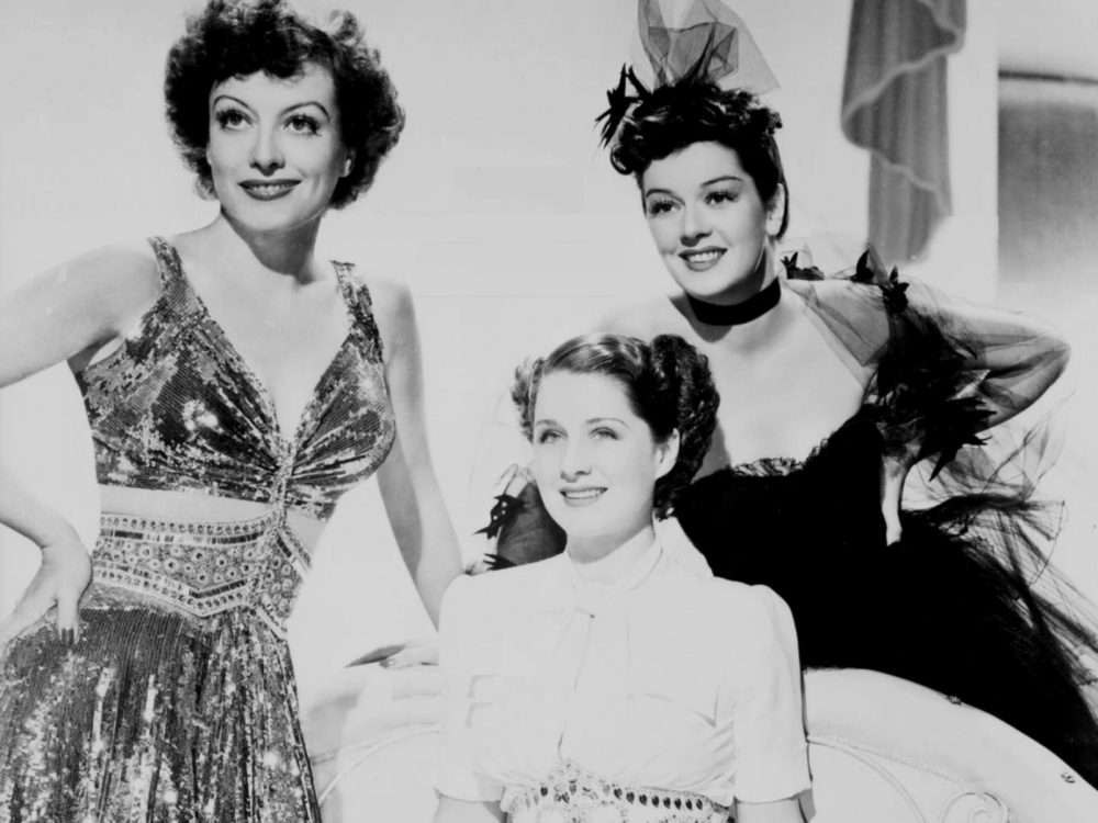 "Joan Crawford, Norma Shearer and Rosalind Russell in ""The Women."" (Courtesy The Brattle)"