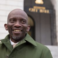 On the same day Donald Trump was elected president, Pious Ali was elected to Portland's City Council, continuing the political rise of the first African-born Muslim to hold public office in Maine. (Ryan Caron King for NENC)