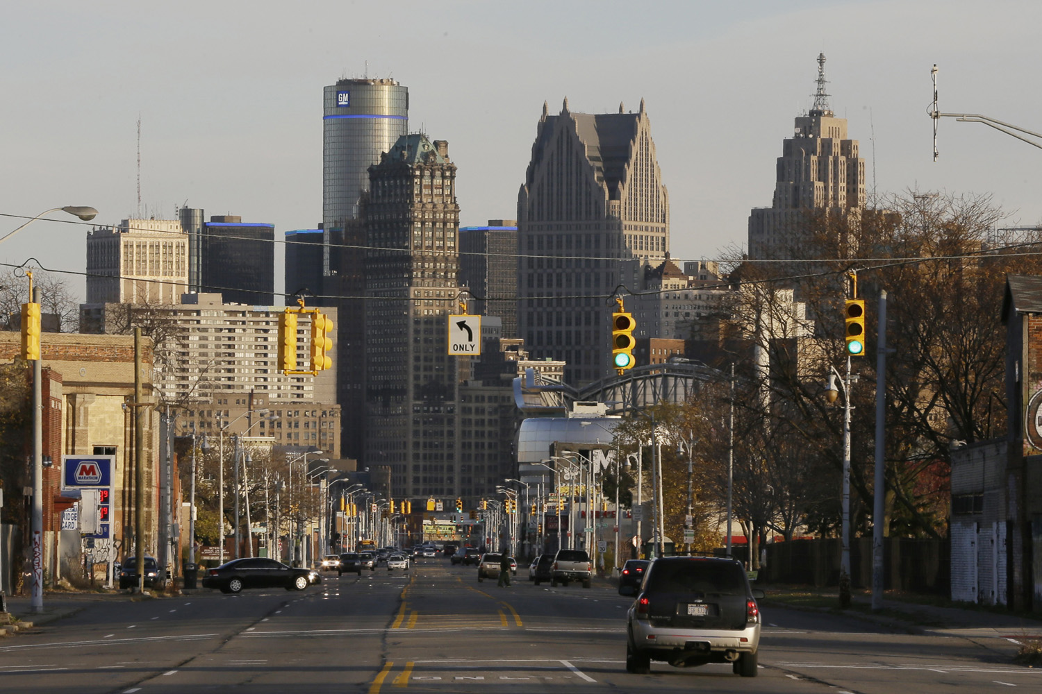 In this Nov. 7, 2014 file photo is the skyline of the city of Detroit. (Carlos Osorio/AP)