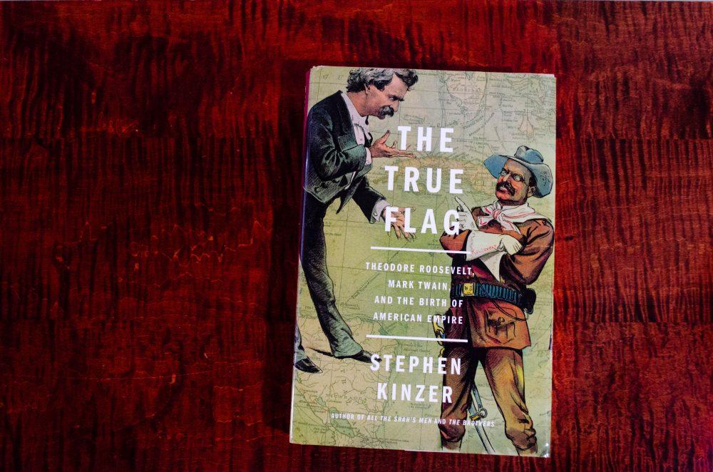 "Stephen Kinzer's ""The True Flag."" (Elizabeth Gillis/WBUR)"