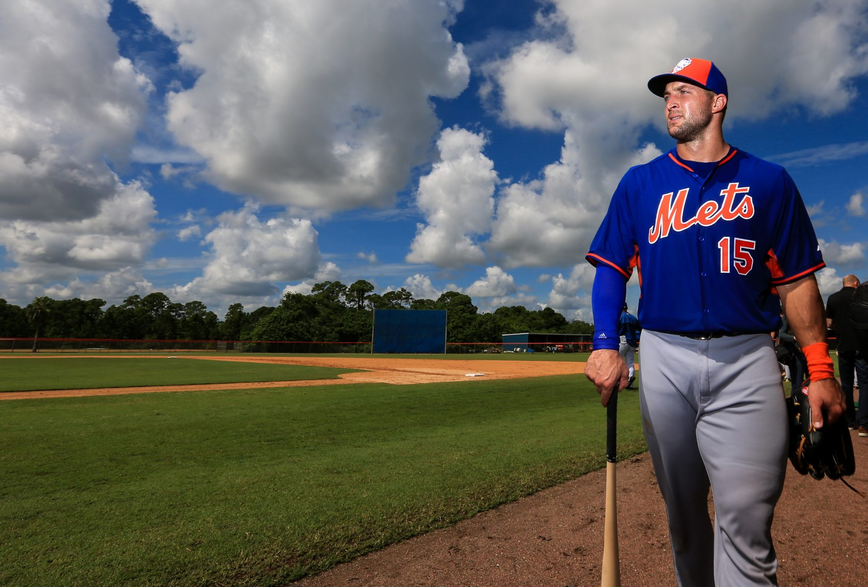 Tim Tebow is playing in the Mets' minor league spring training camp. (Rob Foldy/Getty Images)