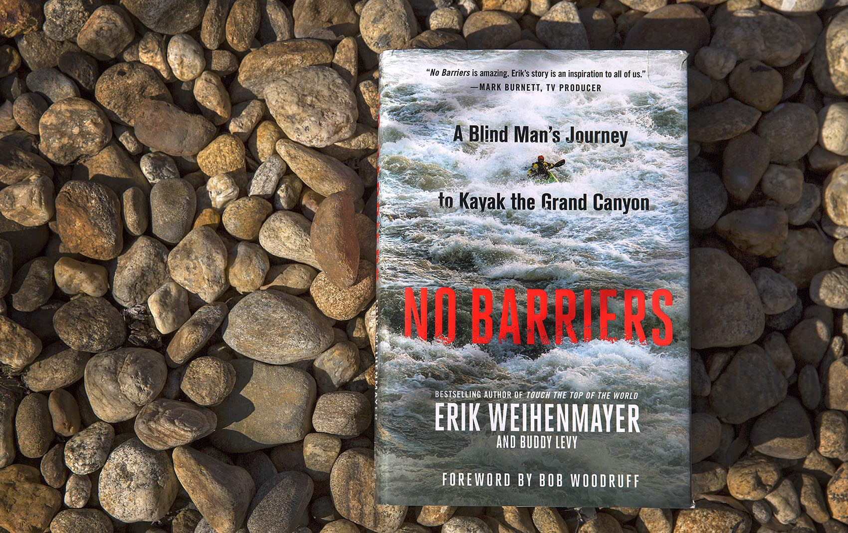 """No Barriers,"" by Erik Weihenmayer and Buddy Levy. (Robin Lubbock/WBUR)"