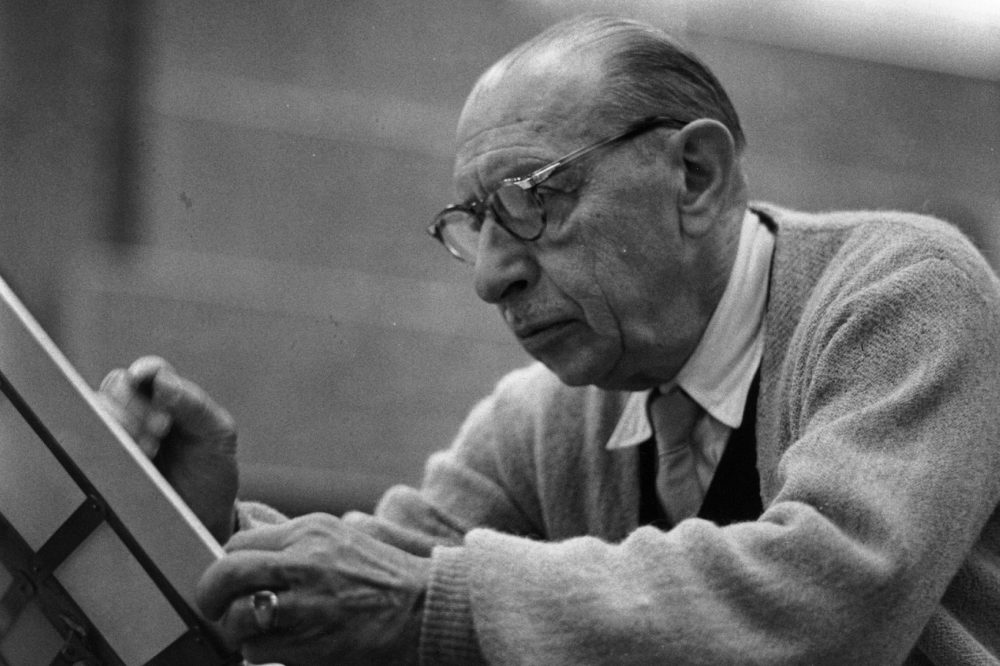 Russian composer Igor Stravinsky at work. (Erich Auerbach/Getty Images)
