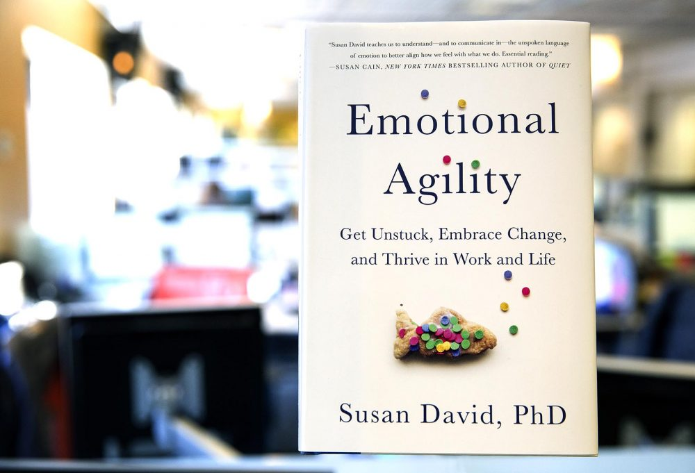 """Emotional Agility,"" by Susan David. (Robin Lubbock/WBUR)"