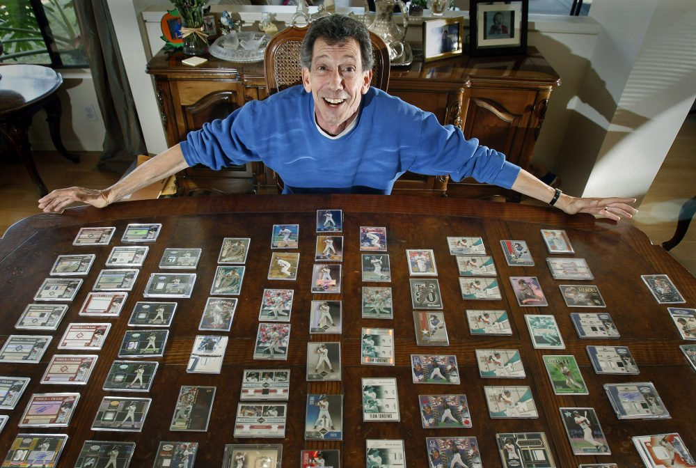 Jerry owns 117 different cards commemorating those eight days, five games that Mike Piazza was on the Marlins. (Christine Cotter, For The New York Times)