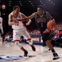 In his first year at UNLV, Derrick Jones Jr. was told he could no longer play college basketball. But Jones says he wasn't quite ready for the NBA, and he needed another option for development. (Christian Petersen/Getty Images)