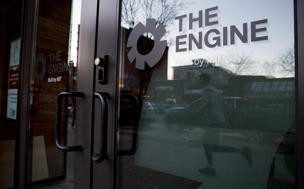 The exterior of The Engine, at MIT (Robin Lubbock/WBUR)