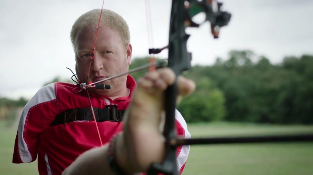 Matt Stutzman has risen to the top of the archery world, achieving a No. 11 world ranking in 2015. (Courtesy Chicago Sports & Entertainment Partners)