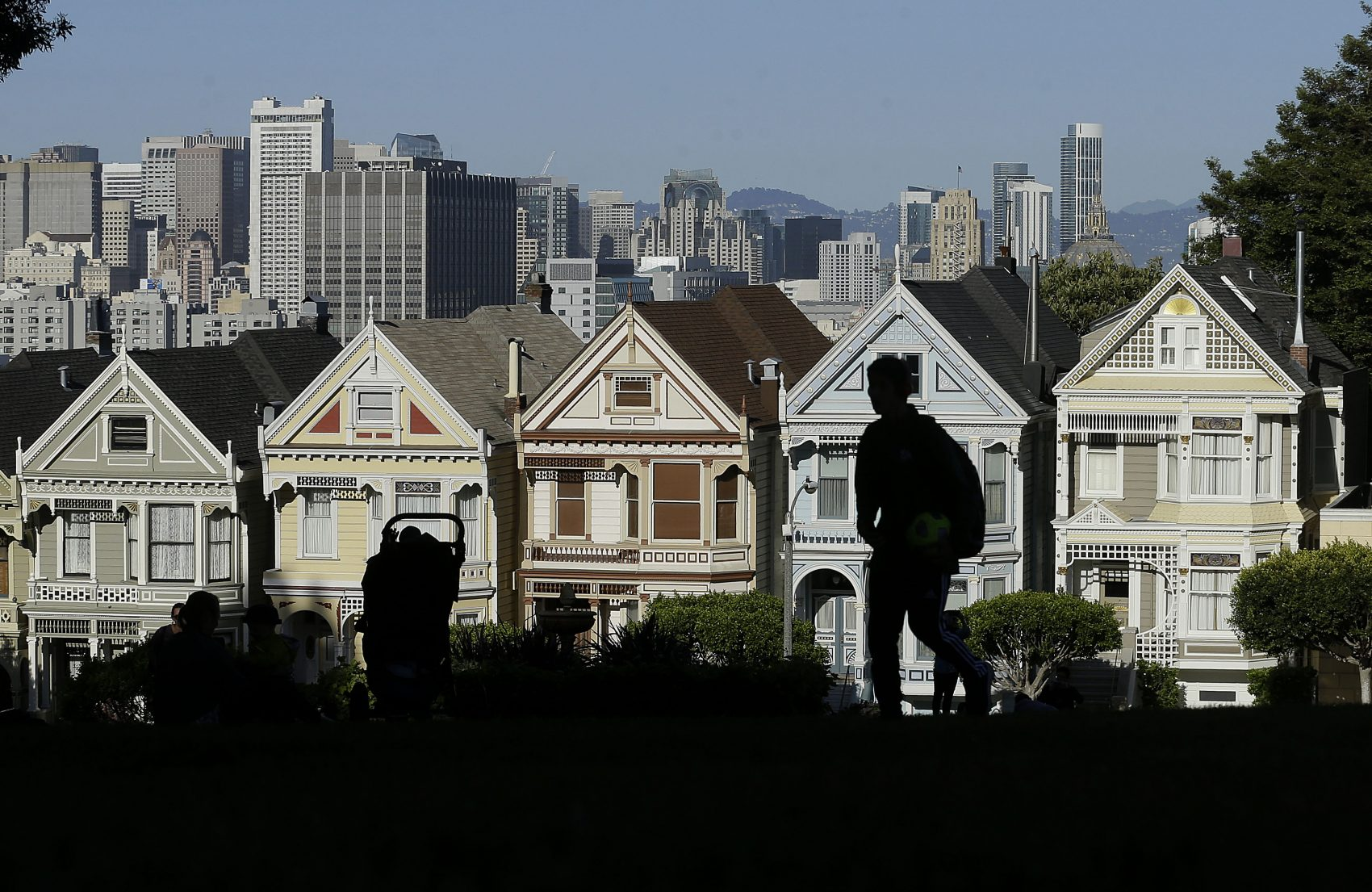 "The ""Painted Ladies,"" a row of historical Victorian homes, in San Francisco in April 2016. (Jeff Chiu/AP)"