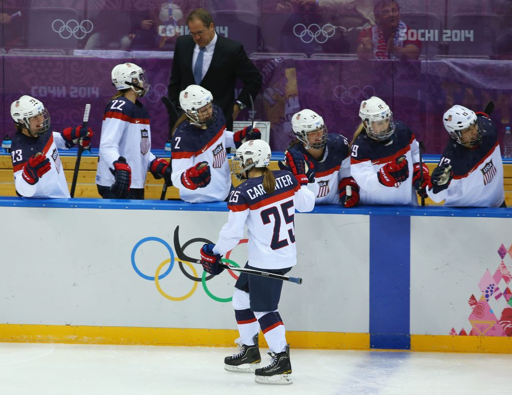 Bill Littlefield is encouraged by the response to the U.S. women's hockey team's boycott. (Doug Pensinger/Getty Images)