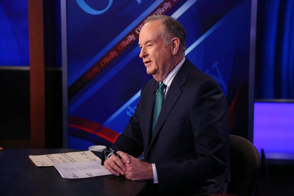 "Host Bill O'Reilly appears on ""The O'Reilly Factor"" on the Fox News channel at Fox Studios on March 17, 2015 in New York City.  (Rob Kim/Getty Images)"