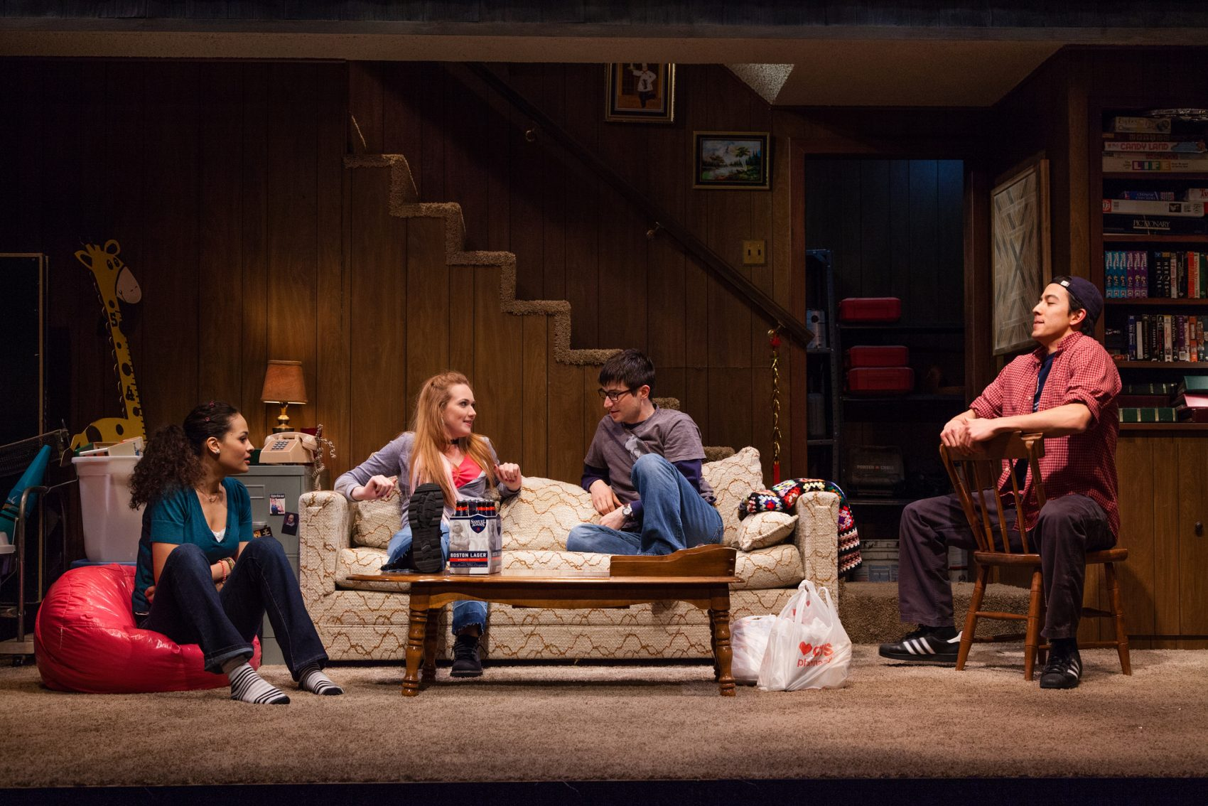 Maria Jung, Monica Giordano, Danny Bryck and Kim Fischer. (Courtesy Meghan Moore/Merrimack Repertory Theatre)