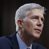 Supreme Court Justice nominee Neil Gorsuch testifies on Capitol Hill in Washington Tuesday at his confirmation hearing before the Senate Judiciary Committee. (Pablo Martinez Monsivais/AP)