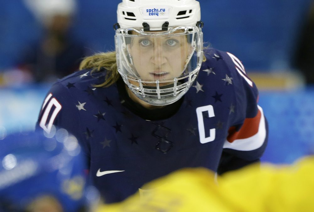 The U.S. women's national hockey team stared down the hockey powers-that-be with a fierceness and determination born of years of second-class citizenry, writes Shira Springer. Tuesday night, they won. Pictured: Meghan Duggan of the United States looks up during a face off during the second period of the 2014 Winter Olympics women's semifinal ice hockey in Sochi, Russia. (Mark Humphrey/AP)