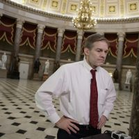 Rep. Jim Jordan, R-Ohio, a key member and founder of the conservative Freedom Caucus, arrives for a TV interview on Capitol Hill in Washington, (J. Scott Applewhite/AP)