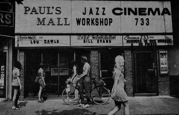 Paul's Mall and the Jazz Workshop on Boylston Street in Boston. (Courtesy Fred Taylor)
