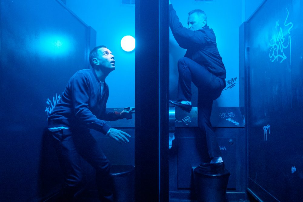 "Mark Renton (Ewan McGregor) and Begbie (Robert Carlyle) in ""T2 Trainspotting."" (Courtesy Jaap Buitendijk/CTMG, Inc.)"