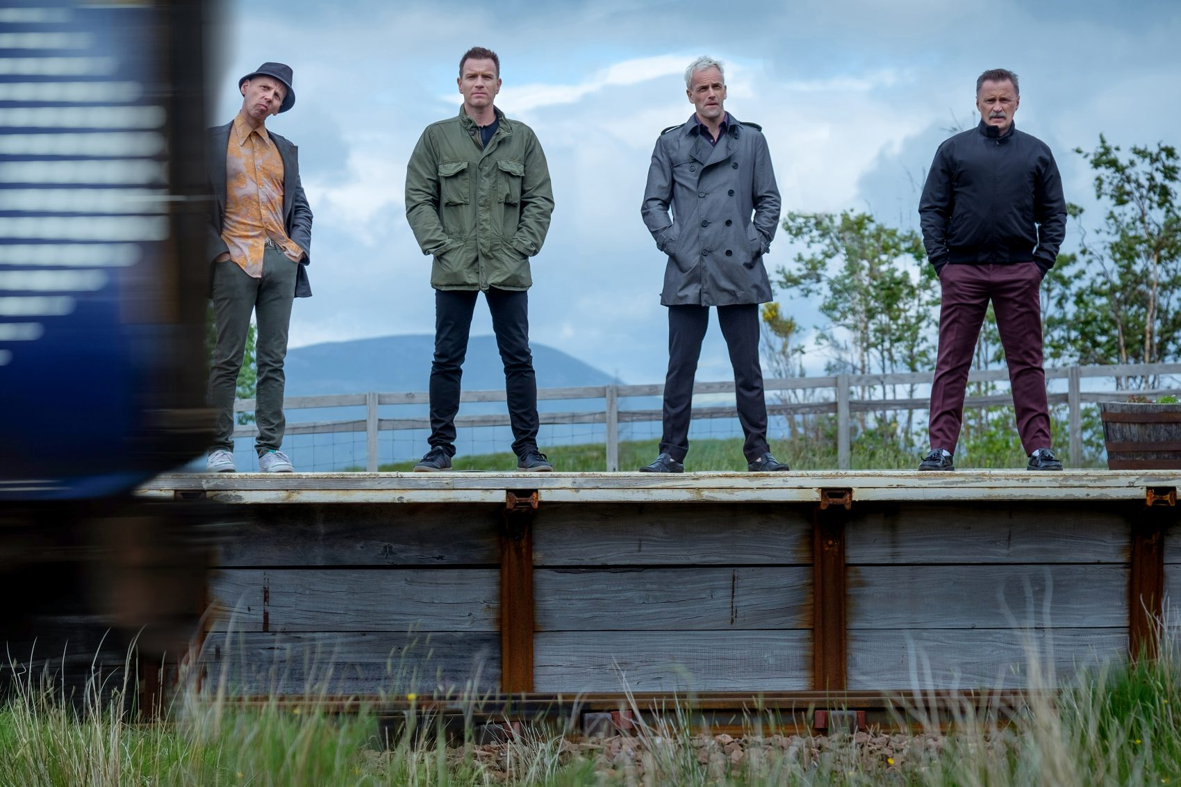 "Mark Renton (Ewan McGregor), Spud (Ewen Bremner), Sick Boy (Jonny Lee Miller) and Begbie (Robert Carlyle) in ""T2 Trainspotting."" (Courtesy CTMG, Inc.)"