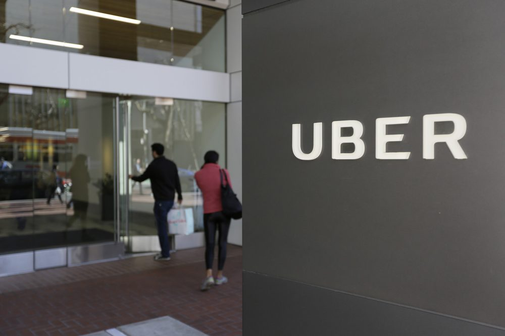 An exterior view of the headquarters of Uber in San Francisco. (Eric Risberg/AP)