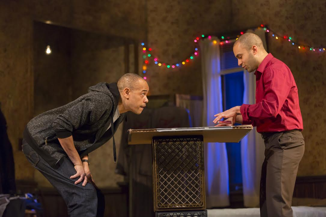 "Tyrone Mitchell Henderson and Matthew J. Harris in ""Topdog/Underdog"" (Courtesy T. Charles Erickson)"
