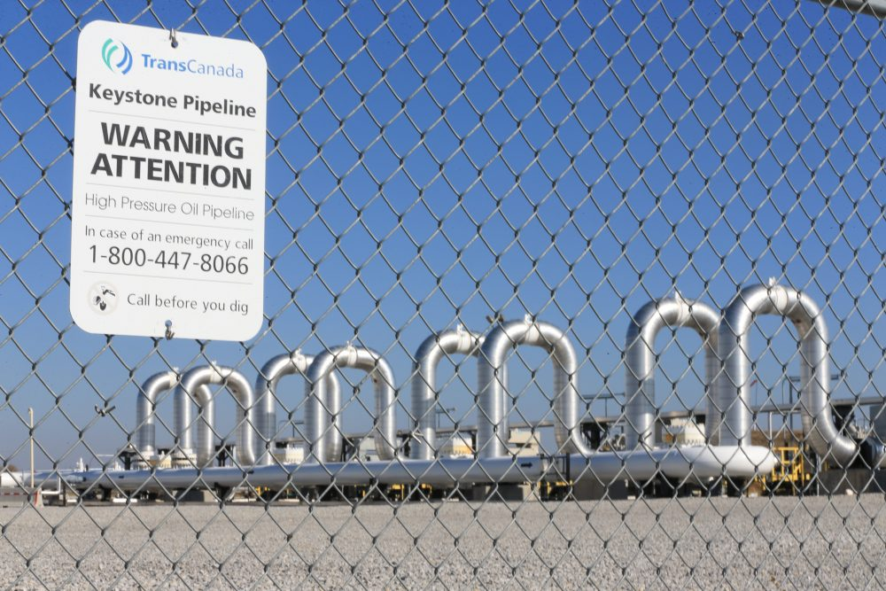 In this Nov. 3, 2015 file photo, the Keystone Steele City pumping station, into which the planned Keystone XL pipeline is to connect to, is seen in Steele City, Neb. (Nati Harnik/AP)