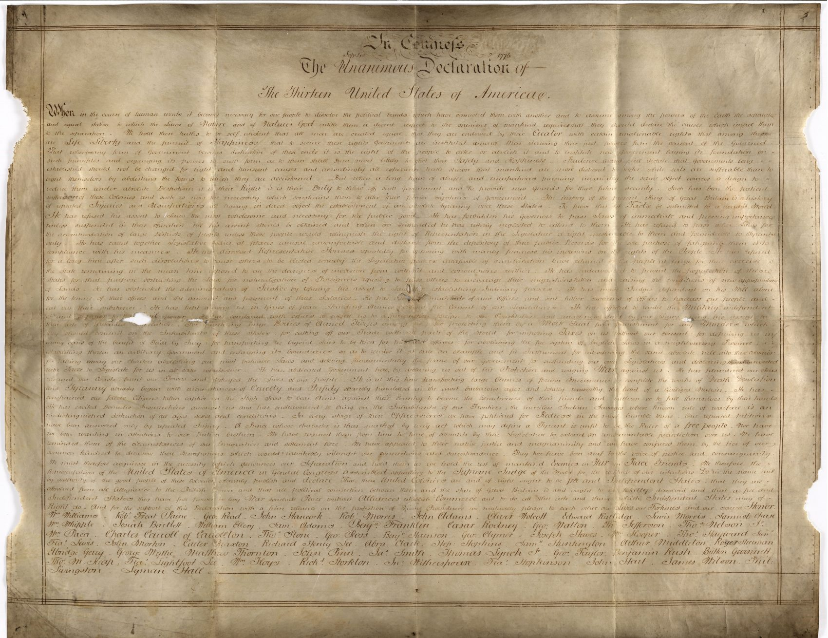 The Sussex Declaration. West Sussex Record Office Add Mss 8981. (Courtesy)