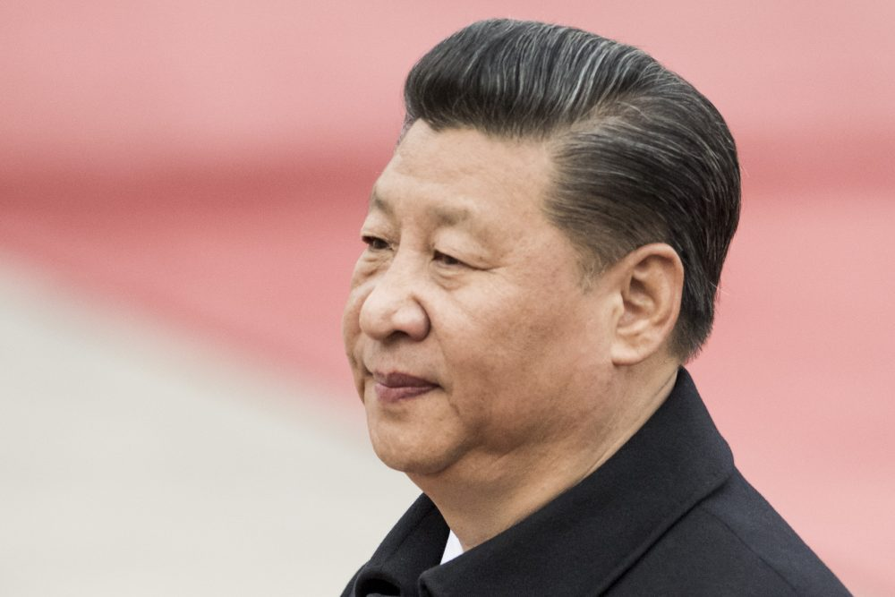 Chinese President Xi Jinping at the Great Hall of the People in Beijing on March 30, 2017. (Fred Dufour/AFP/Getty Images)