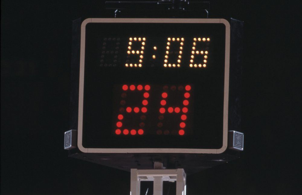 Who really invented basketball's shot clock? (Jamie Squire/Getty Images)