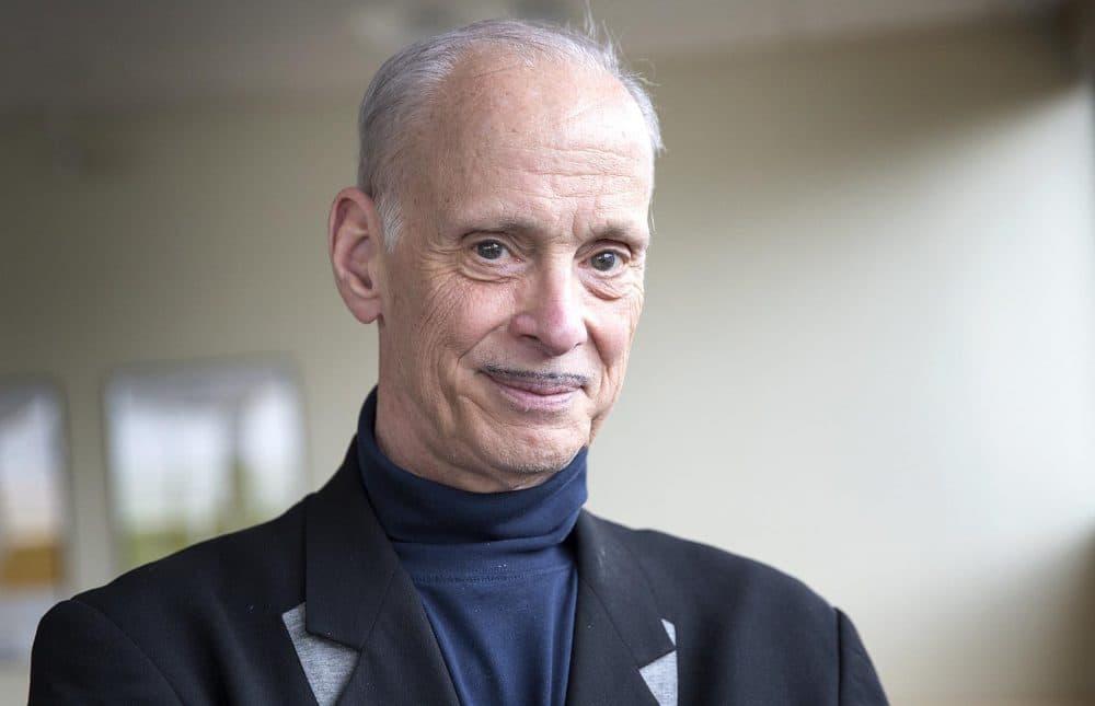 Film director, screenwriter and author John Waters at WBUR (Robin Lubbock/WBUR)