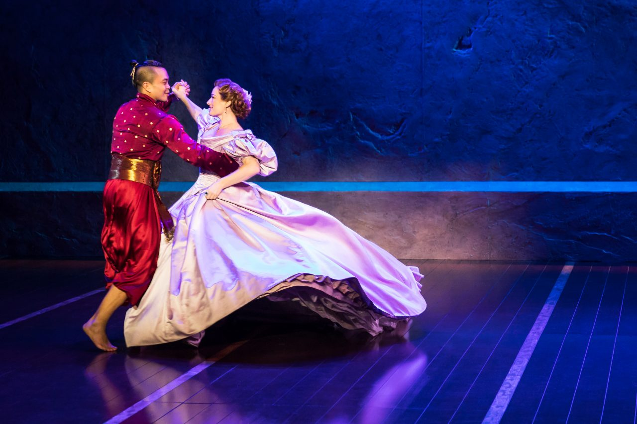 "Jose Llana and Laura Michelle Kelly in ""The King and I."" (Courtesy Matthew Murphy)"