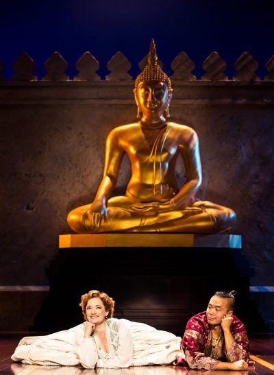 "Laura Michelle Kelly as Anna Leonowens and Jose Llana as The King in ""The King and I."" (Courtesy Matthew Murphy)"